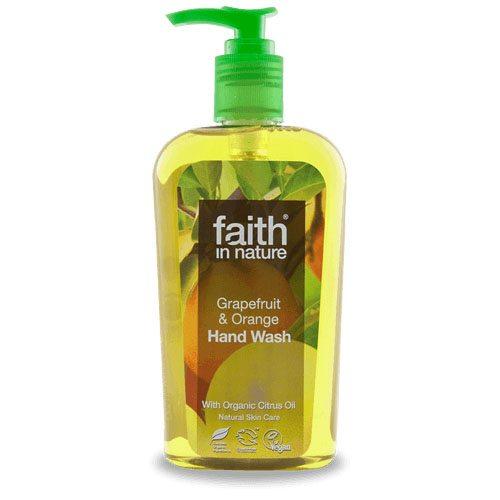 Faith in Nature Grapefruit és Narancs folyékony kézmosó - 300ml