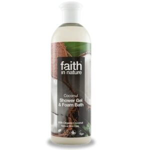 Faith in Nature Kókusz tusfürdő és habfürdő - 400ml