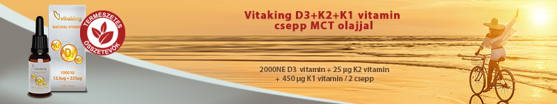 Vitaking D3-K2-K1 vitamin csepp MCT olajjal