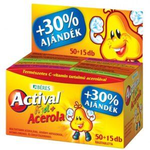 Béres Actival Kid + Acerola rágótabletta + ajándék - 50+15db
