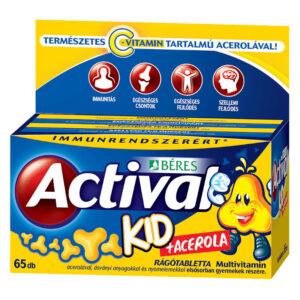 Béres Actival Kid + Acerola rágótabletta 65db