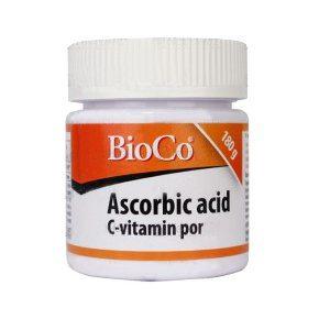 BioCo Ascorbic acid C-vitamin por - 180g