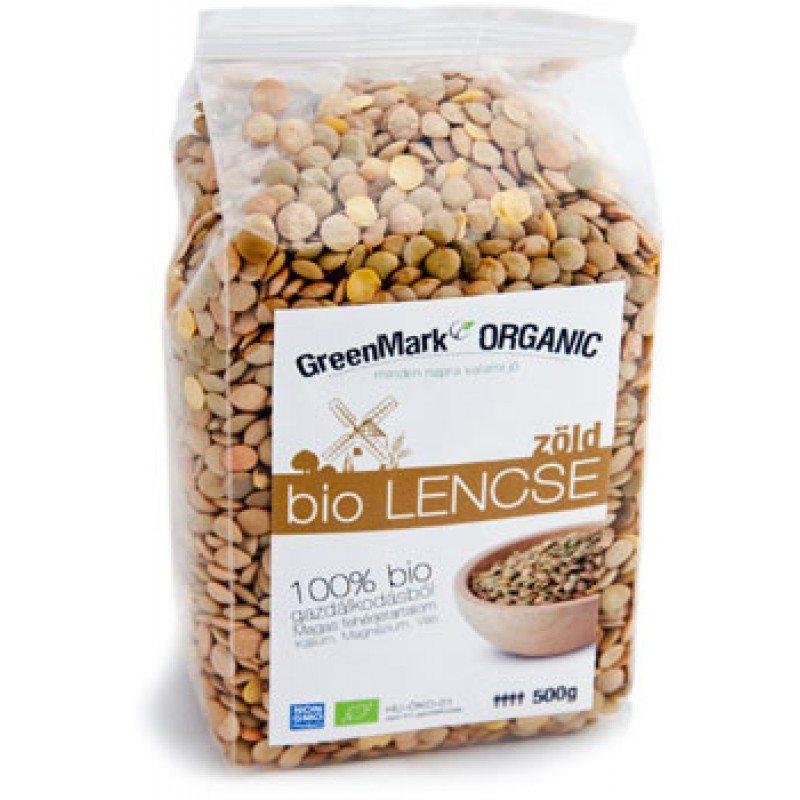 GreenMark bio lencse zöld - 500g