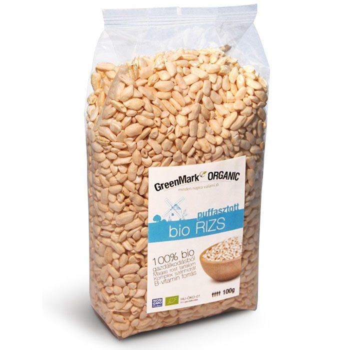 GreenMark bio puffasztott rizs - 100g