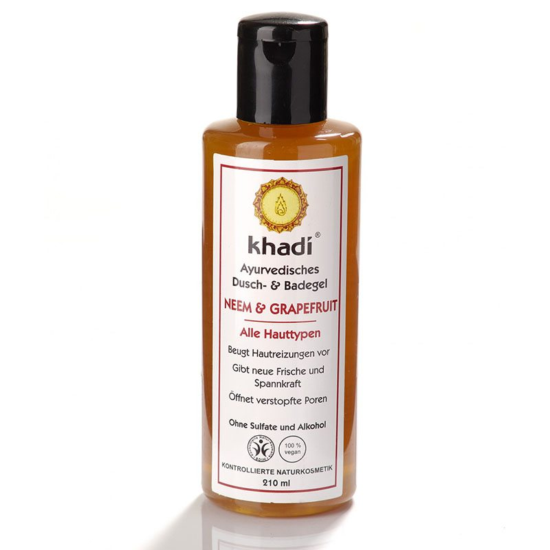 Khadi Grapefruit & Neem tusfürdő - 210ml