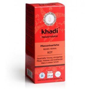 Khadi Hajfesték por Élénkvörös - 100% Henna-tartalommal - 100g