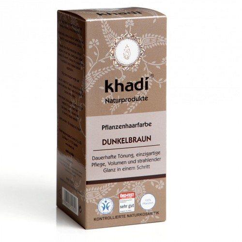 Khadi Hajfesték por - Sötétbarna - 100g
