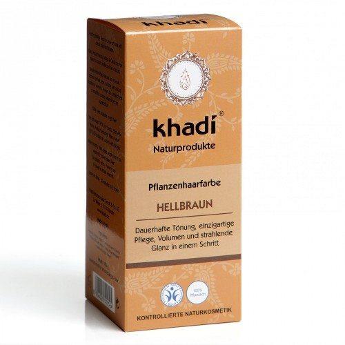 Khadi Hajfesték por - Világosbarna - 100g