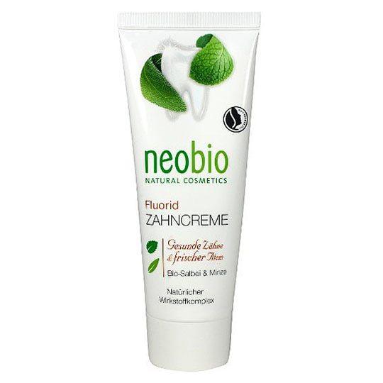 Neobio fogkrém fluorral, zsályával és mentával - 75ml