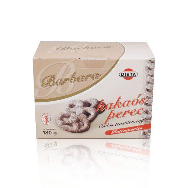 Barbara gluténmentes kakaós perec - 180g