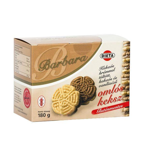 Barbara gluténmentes keksz kakaós - 180g