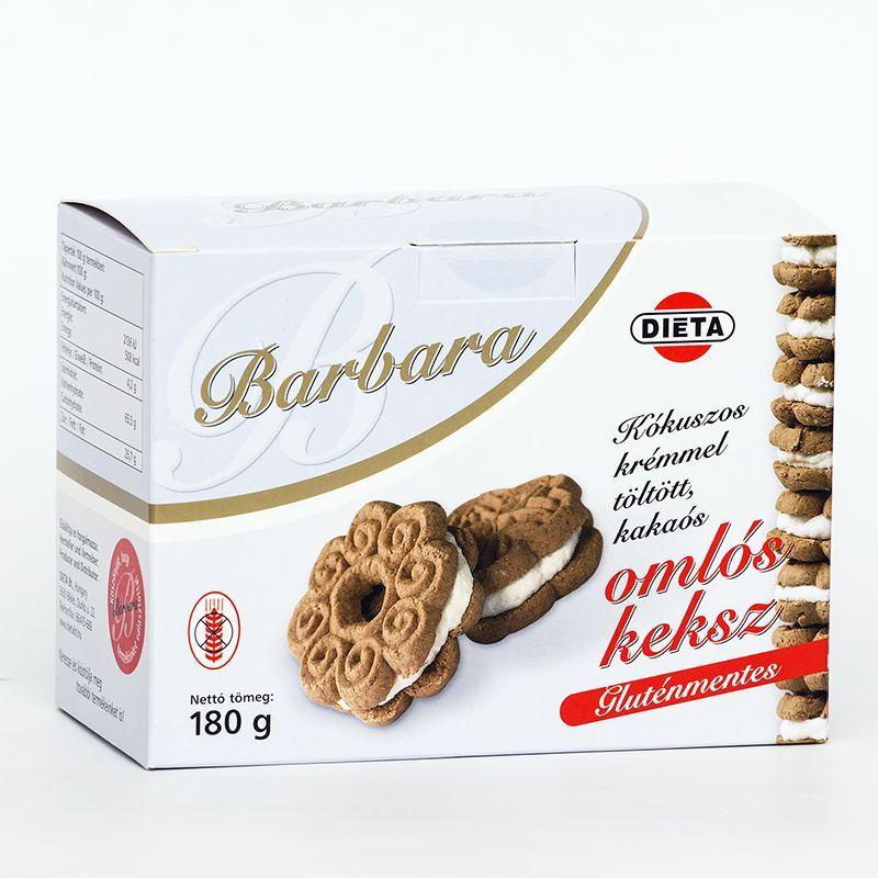 Barbara gluténmentes keksz kókuszos - 180g