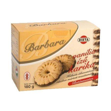 Barbara gluténmentes vaníliás karika - 180g