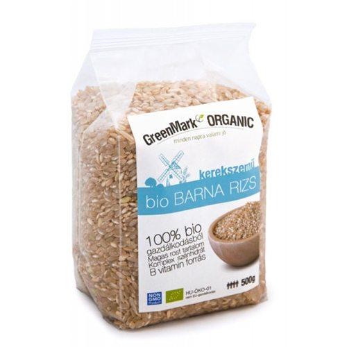 GreenMark bio hosszúszemű barna rizs - 500g