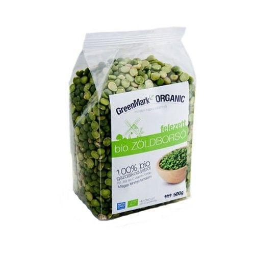 GreenMark bio zöldborsó felezett - 500g