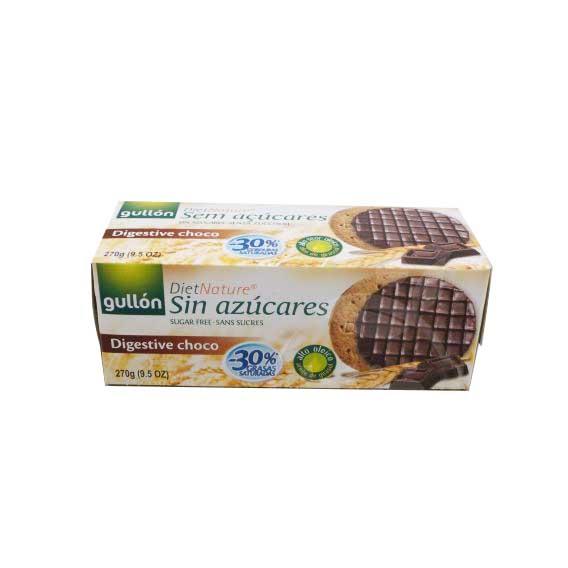 Gullón korpás keksz étcsoki bevonattal, édesítőszerrel - 270g