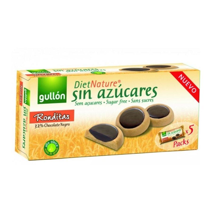 Gullón ronditas keksz étcsokoládéval töltött, édesítőszerrel - 186g