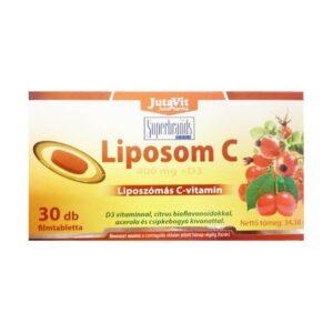 Jutavit liposzómás C-vitamin 400mg + D3-vitamin tabletta - 30db
