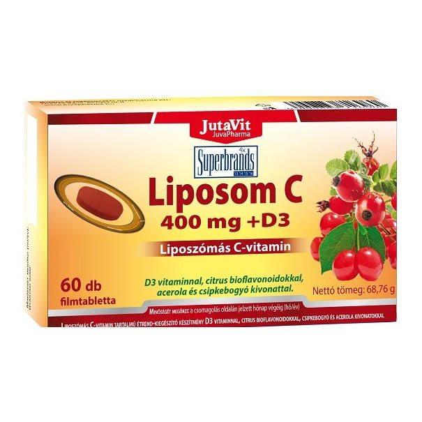 Jutavit Liposom liposzómás C-vitamin 400mg + D3-vitamin tabletta - 60db