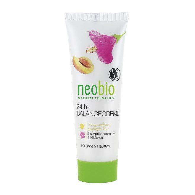 Neobio 24 órás Kiegyensúlyozó arckrém bio sárgabarackmag-olajjal és hibiszkusszal - 50ml