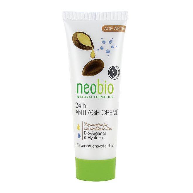 Neobio 24 órás öregedésgátló arckrém bio argánolajjal és hialuronsavval - 50ml