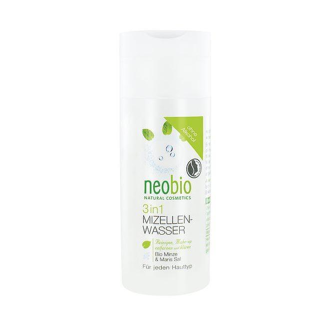 Neobio 3 az 1-ben Micellás arctisztító víz bio mentakivonattal és tengeri sóval - 150ml