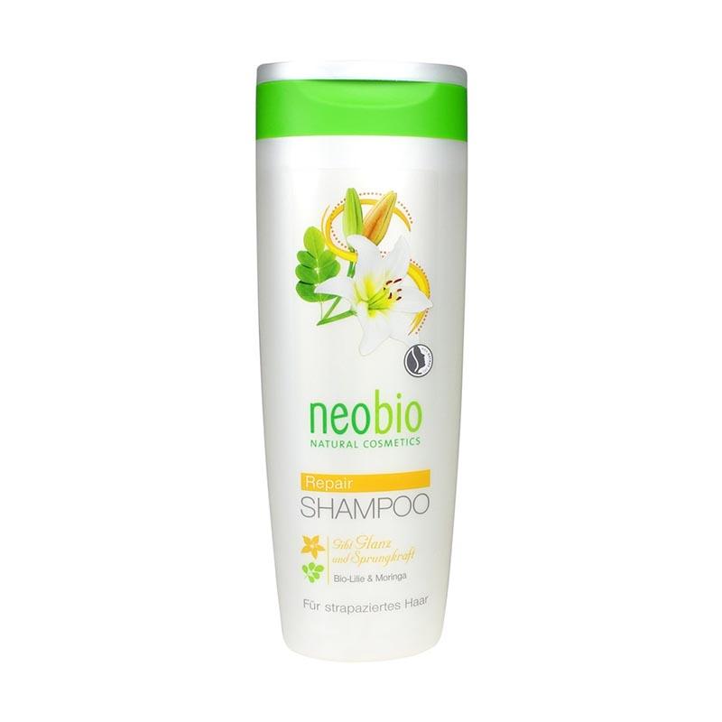 Neobio Regeneráló sampon fénytelen hajra bio fehérliliom-és moringakivonattal - 250ml