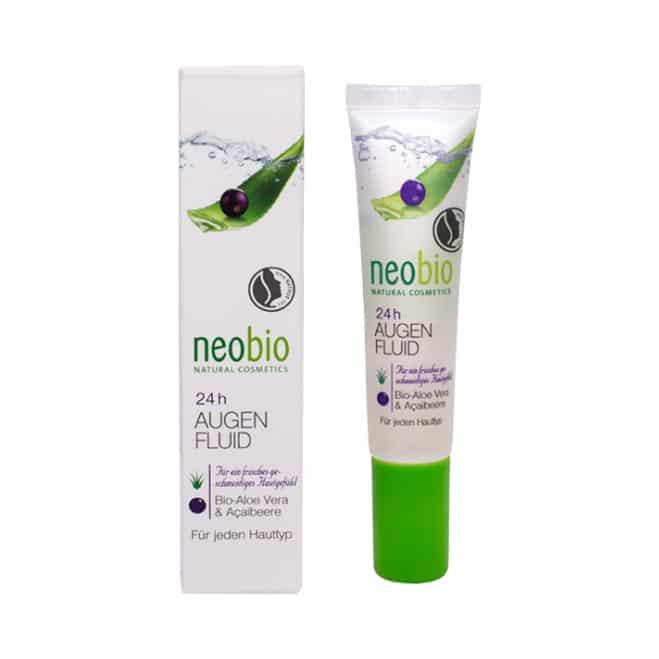 Neobio 24 órás Szemkörnyékápoló bio Aloe verával és akaibogyóval - 15ml