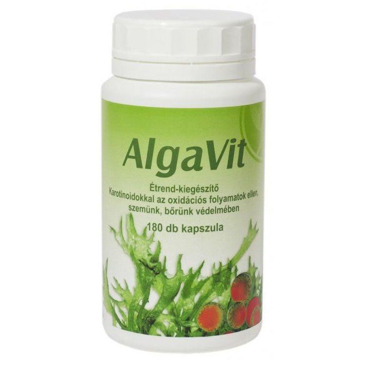 AlgaVit - Spirulina, Chlorella és Astaxanthin kapszula - 180db