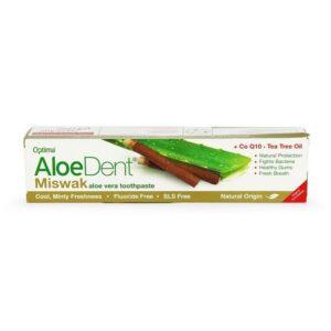 Optima Aloe Dent Miswak aloe vera fogkrém koenzim Q10-zel és teafaolajjal - 100ml