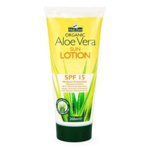 Optima Aloe Vera fényvédő SPF 15 testápoló - 200ml