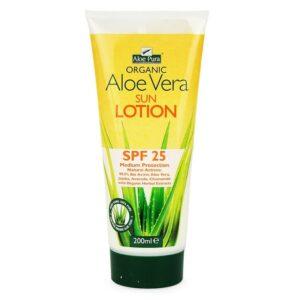 Optima Aloe Vera fényvédő SPF 25 testápoló - 200ml