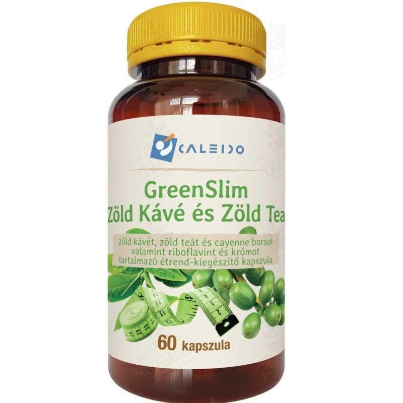 Caleido GreenSlim Zöldkávé és Zöldtea kapszula - 60db
