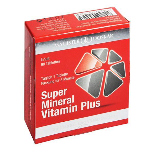 Magister Doskar Super Mineral Vitamin Plus tabletta - 90 db