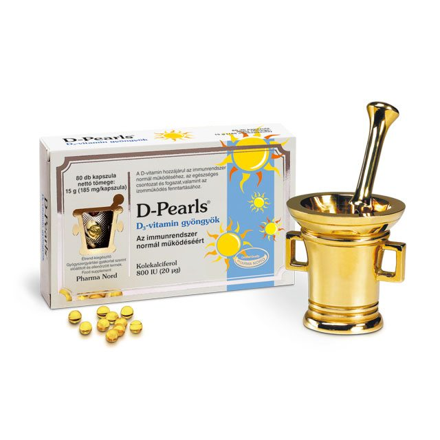 Pharma Nord Bio D-vitamin 1500NE gyöngyök - 80db