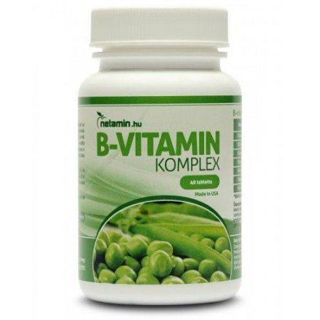 Netamin B-vitamin komplex tabletta - 30db
