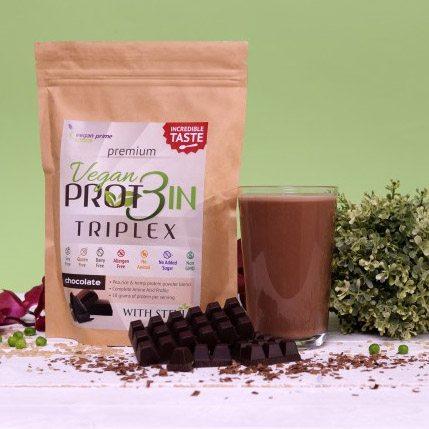 Netamin Vegan Prot3in Triplex csokoládé - 550g
