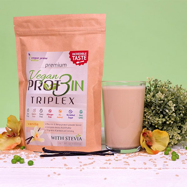 Netamin Vegan Prot3in Triplex vanília - 550g