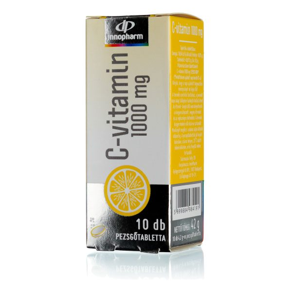 InnoPharm 1000mg C-vitamin pezsgőtabletta - 10 db