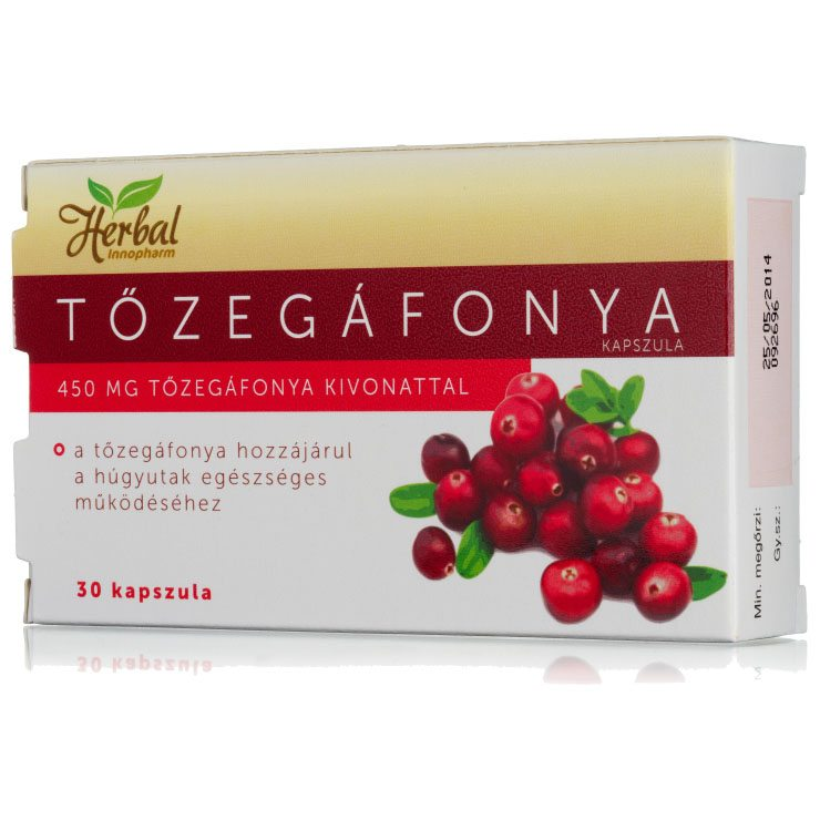 InnoPharm Herbal Tőzegáfonya 450mg kapszula - 30db