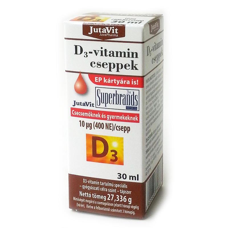 Jutavit D3-vitamin 400NE cseppek - 30ml