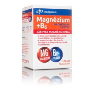 InnoPharm Magnézium-laktát + B6-vitamin filmtabletta - 100db