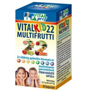 Vital Prof Vitalkid 22 multifrutti kapszula - 30db