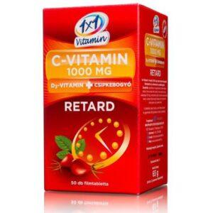 1×1 Vitaday C-vitamin 1000mg + D3 + csipkebogyó tabletta – 50db