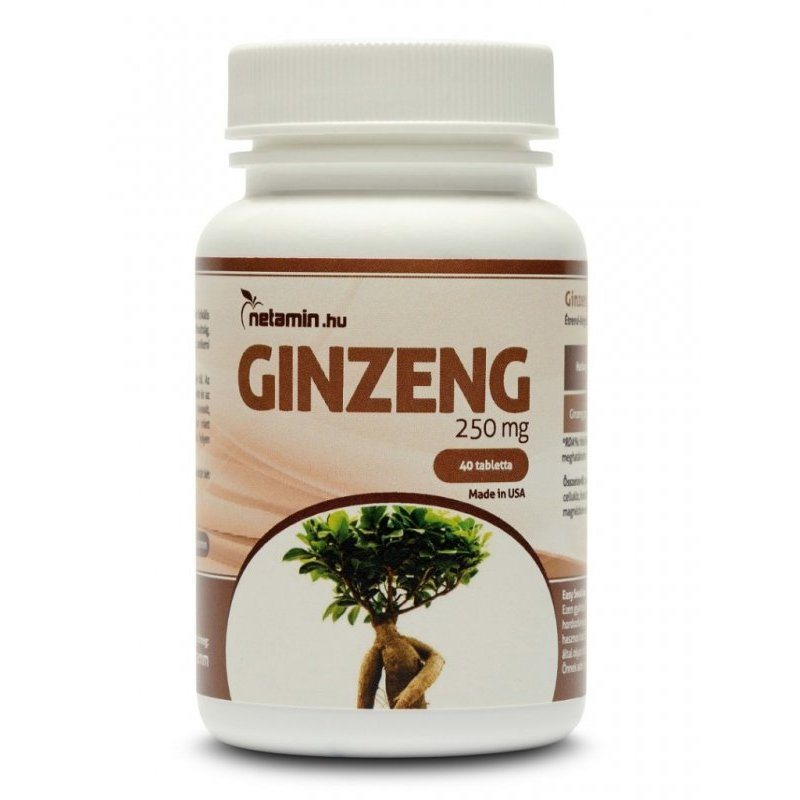 Netamin Ginzeng 250mg tabletta - 40db
