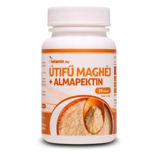 Netamin Útifű maghéj + almapektin tabletta - 30db