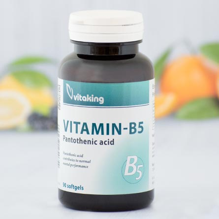 Vitaking Pantoténsav B-5 gélkapszula - 90db