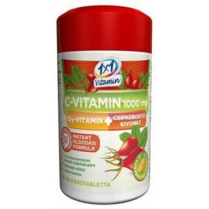1x1 Vitaday C-vitamin 1000mg + D3 + csipkebogyó rágótabletta - 60db