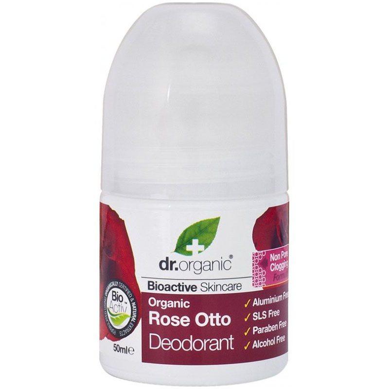 Dr. Organic Bio Rózsa golyós dezodor - 50ml