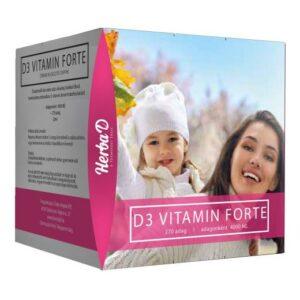 Herba-D D3-vitamin Forte 4000NE csepp (270 napi adag) - 20ml
